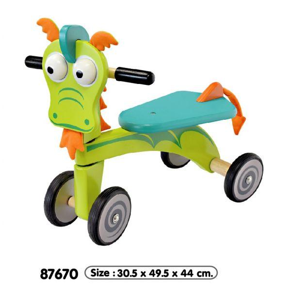 Vélo 4 roues Dragon en bois