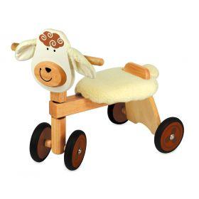 Porteur en bois Vélo 4 roues en bois Mouton IM87530