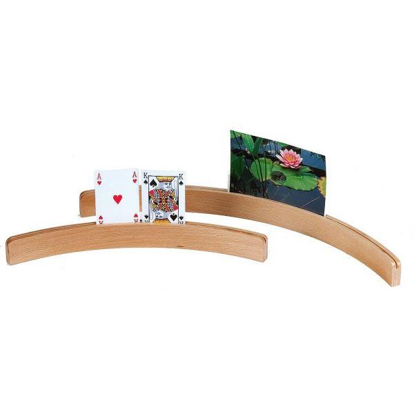 Porte carte en bois 35 cm