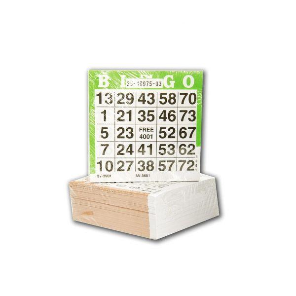 feuilles de jeux de bingo à usage unique