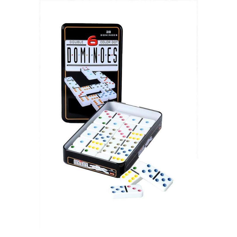 Engelhart Jeu de dominos double 12 dans une boite en métal 250103-2