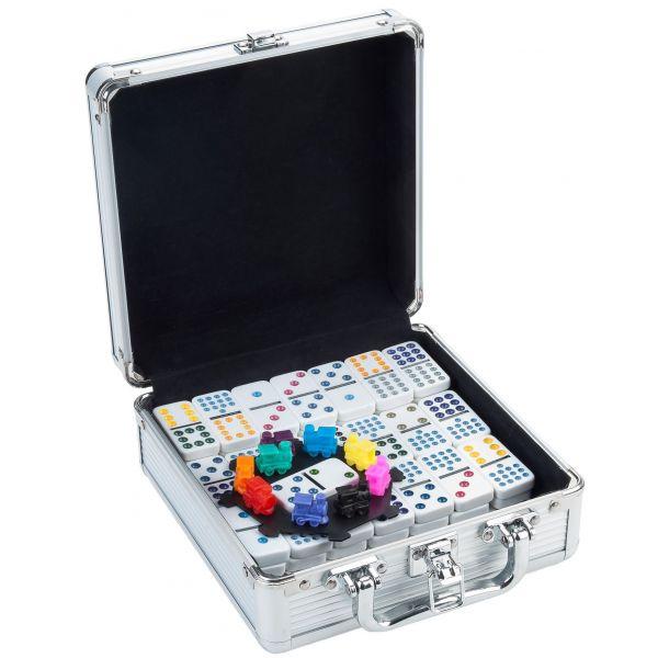Domino train mexicain D12 valise en métal