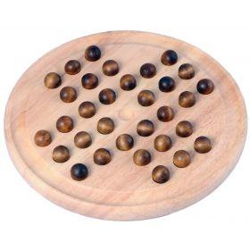 Joli jeux de solitaire anglais, 33 trous en bois 23 cm