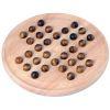 Joli jeu de solitaire anglais, 33 trous en bois 23 cm