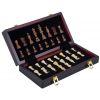 Magnifique coffret de jeux d'échecs de luxe en bois 30 cm
