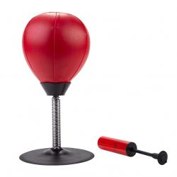 Ballon anti-stress punching ball de bureau 17 cm x 34 cm