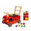Pousseur porteur en bois le camion de pompier