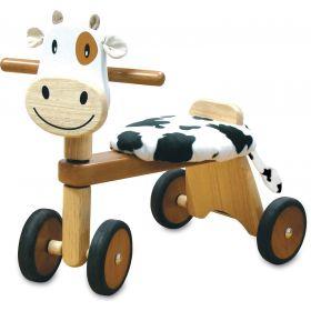 Vélo 4 roues et porteur en bois Clara la vache IM80004