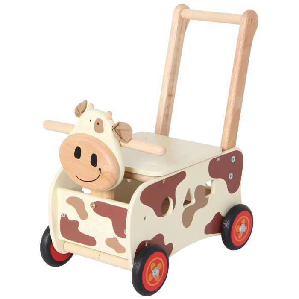 Pousseur porteur en bois Clara la vache