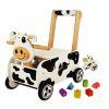 Pousseur porteur en bois Clara la vache IM87131