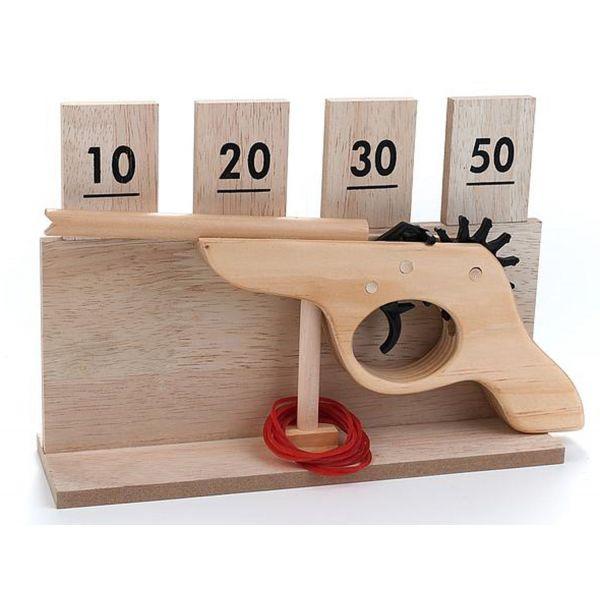 Jeu en bois le Jeu de tir pistolet en bois et cartouches à point