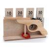 Jeu en bois de tir pistolet et cartouches à points