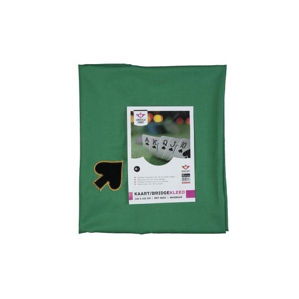 Tapis de cartes tissé carré 4 AS atouts brodés - 120 cm x 120 cm