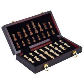 Magnifique coffret de jeux d'échecs de luxe en bois 38 x 19 x 5.2 cm