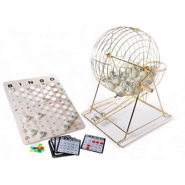 Jeu de Bingo cage en métal diamètre 34 cm