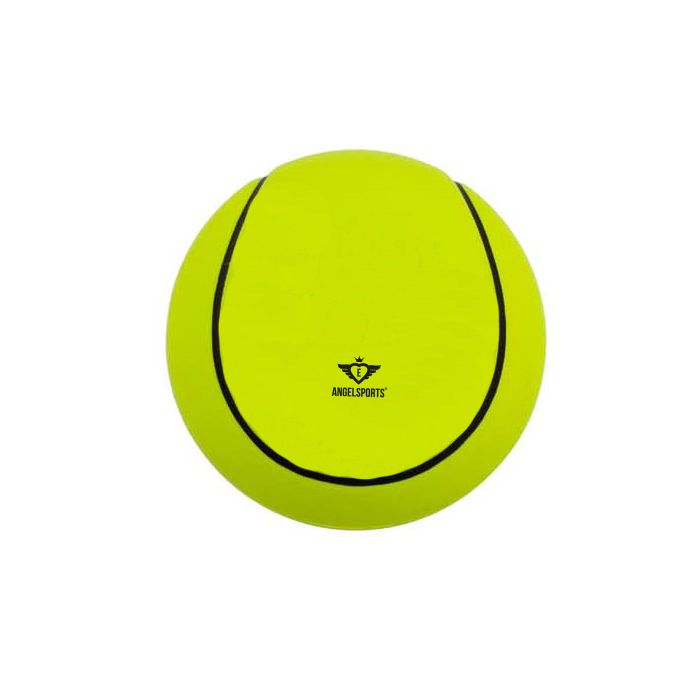 Petit Ballon de type tennis en mousse souple jaune 12,5 cm