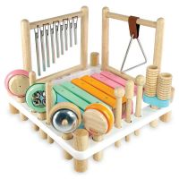 Centre Musical Melody Mix en bois, couleurs pastel carré