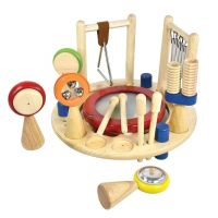 Centre Musical Melody Mix en bois, couleurs vives rond