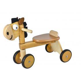 Cheval en bois porteur bébé