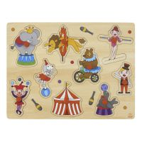 Le Cirque Puzzle d'encastrement en bois de qualité avec boutons pour bébé et enfant de 2 ans et plus