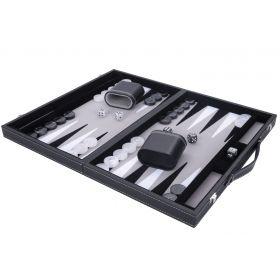 Jeu de Backgammon de luxe 38 cm, gris