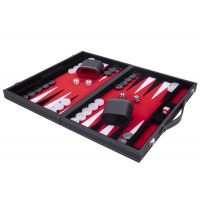 Jeu de Backgammon de luxe 38 cm, rouge