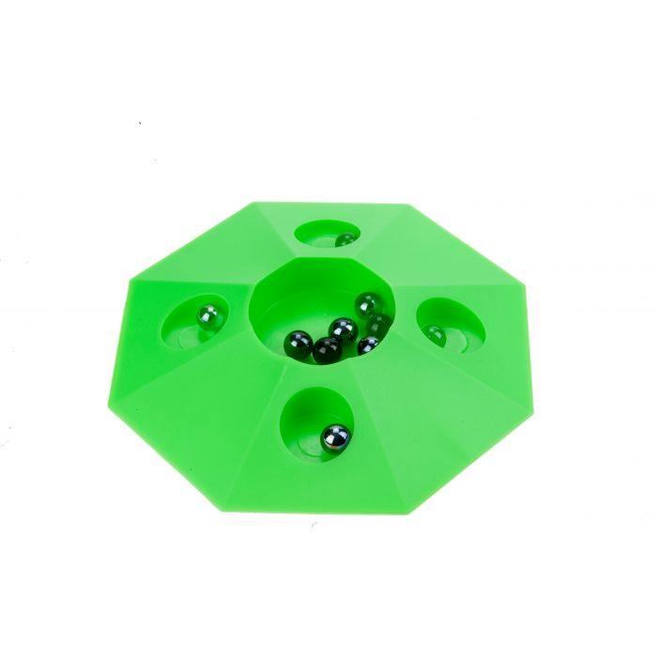 Knikkerpot Vert jeu de billes avec 6 billes -22 cm