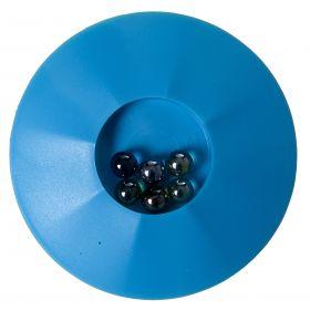 Knikkerpot 17 cm Bleu Jeu de Billes avec 6 Billes