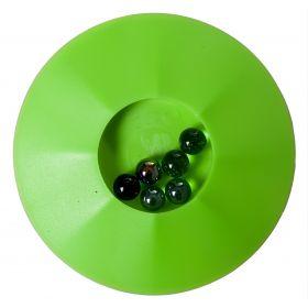 Knikkerpot 17 cm Vert Jeu de Billes avec 6 Billes