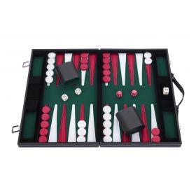 Backgammon 15 pouces - 38 cm vert