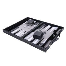 Backgammon Gris Haute qualité 45,5 cm Nacré