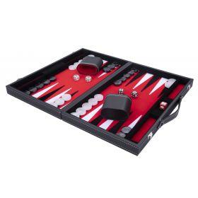 Backgammon Rouge Haute qualité 45,5 cm Nacré