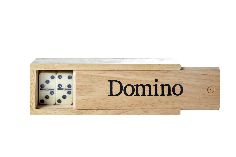 Domino Double 6 avec boîte et grandes joues un