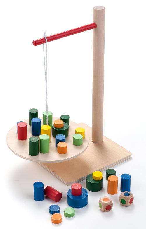 jeux en bois d'équilibre montessori