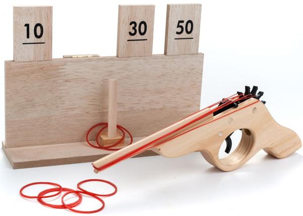 jeu en bois vintage jeu de tir pour enfant